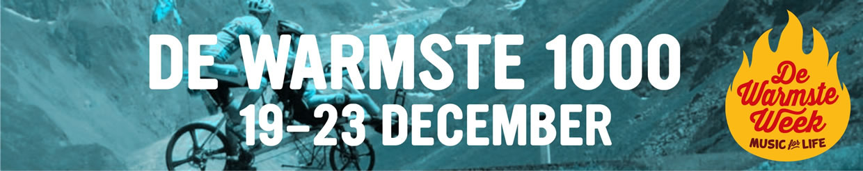 De Warmste 1000, 19-23 december.